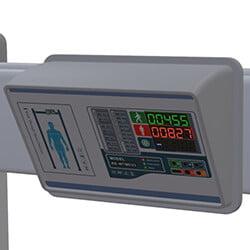 walk throught metal detectors temperature display model